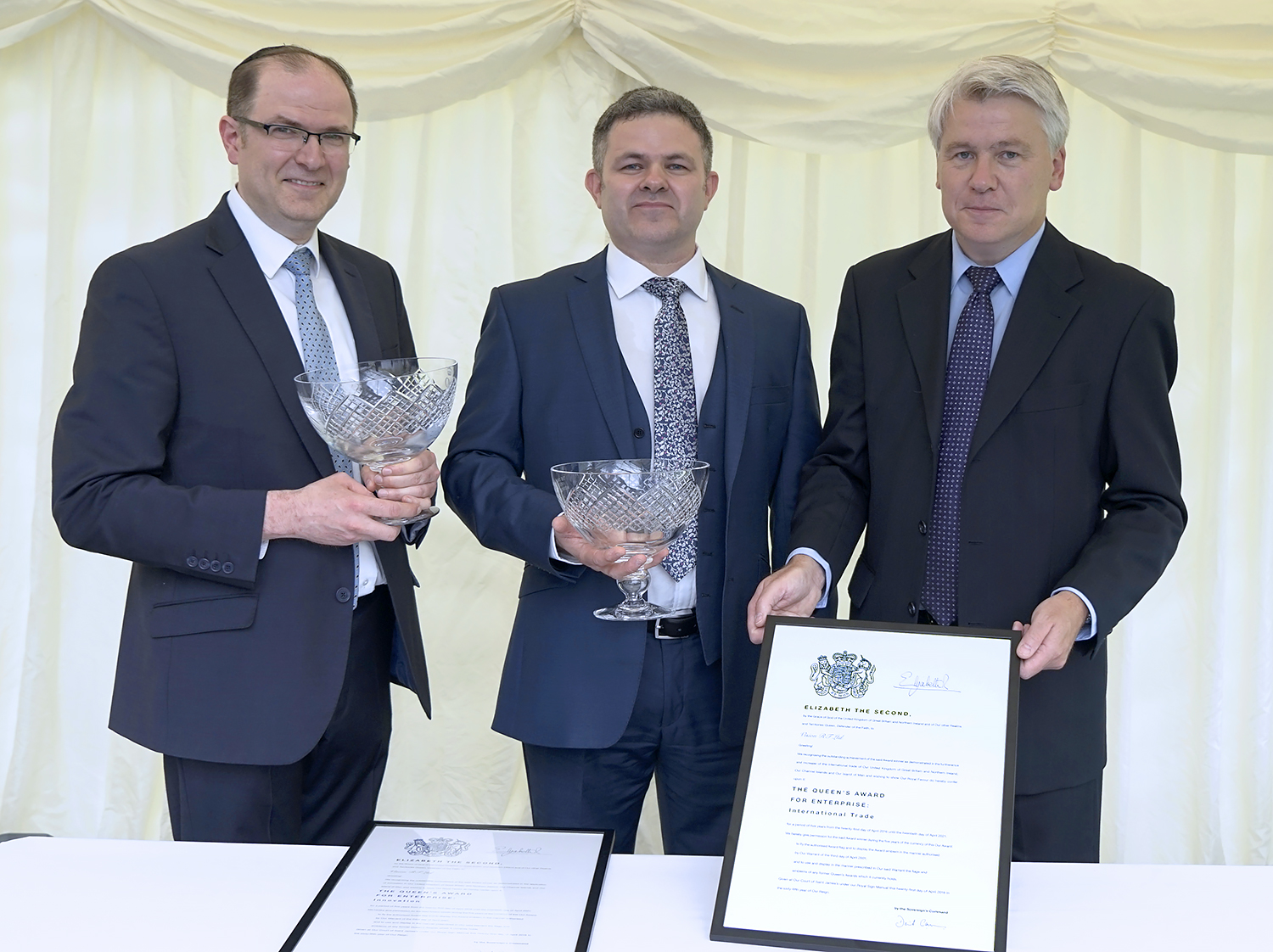 Vision RT presented with two Queen's Awards in London