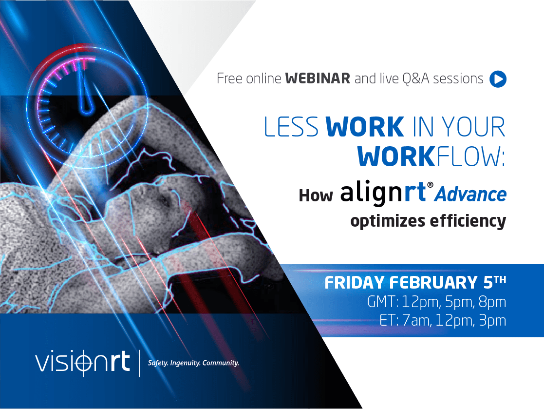"""""""Less work in your workflow"""" Sign up for our free AlignRT® Advance webinar"""